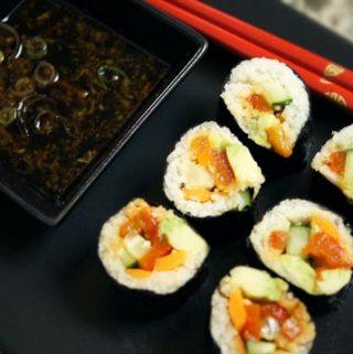 "Spicy ""Tuna"" Sushi Dinner"