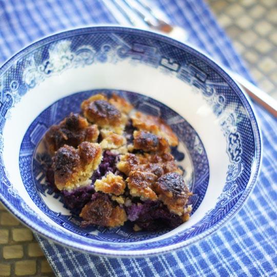 grain-free blueberry crisp