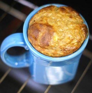 Peanut Butter Banana Mug Cake