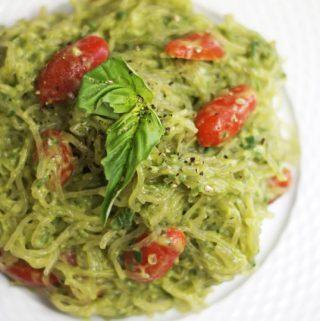 Avocado Pesto Sauce (Nut-Free, Vegan)