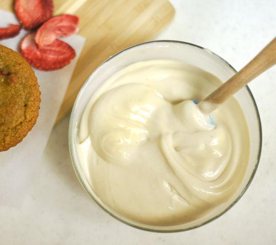 This creamy icing is reminiscent of traditional cream cheese icing ...