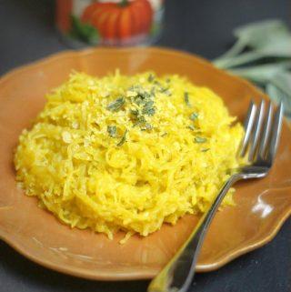 Creamy Pumpkin & Sage Pasta (Vegan)
