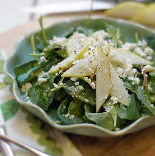 Kale, Pear & Feta Salad