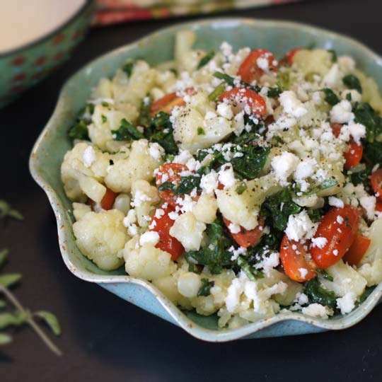 Four-Cheese Pasta With Cauliflower Recipe — Dishmaps