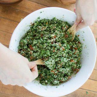 Raw Cauliflower Tabouli