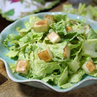 Avocado Caesar Salad (Vegan, Paleo)
