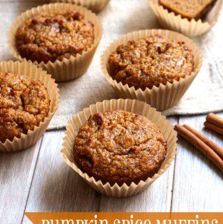 Paleo Pumpkin Spice Muffins (Nut-free)