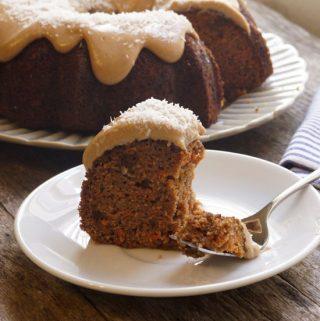 Coconut Flour Carrot Cake (Dairy-free)