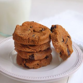 Pumpkin Chocolate Chip Cookies (Egg-free, Grain-free, Nut-free)