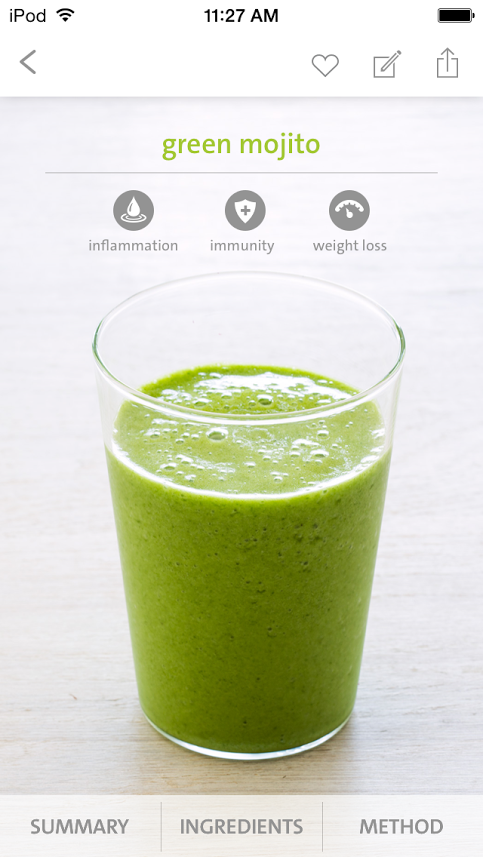 green mojito in a glass