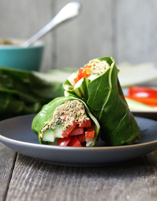 falafel wraps on a plate