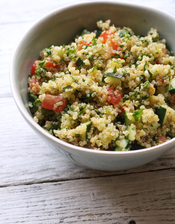 quinoa tabouli in a bowl