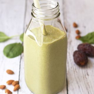 Creamy Almond Butter & Spinach Shake