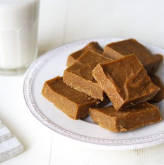 Homemade Cookie Butter Freezer Fudge