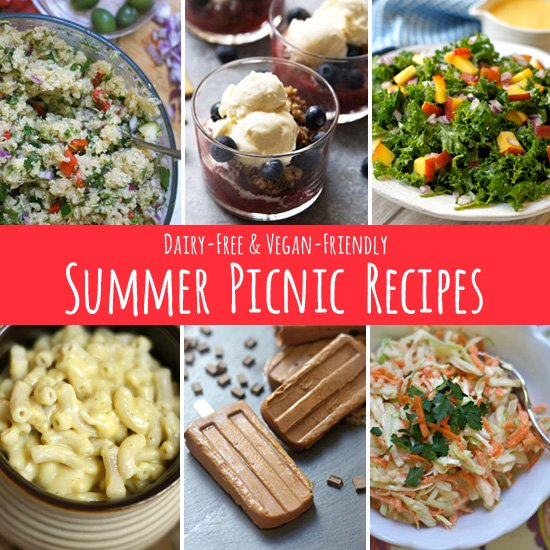 Pack a picnic basket with favorite outdoor dining dishes like potluck salads, fried chicken, grilled burgers, cold drinks and more picnic food recipes.