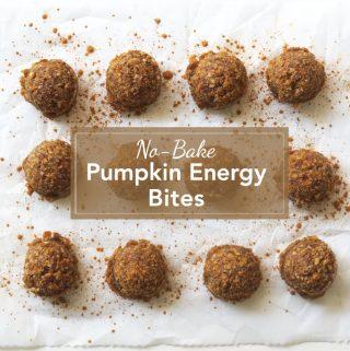 No-Bake Pumpkin Energy Bites