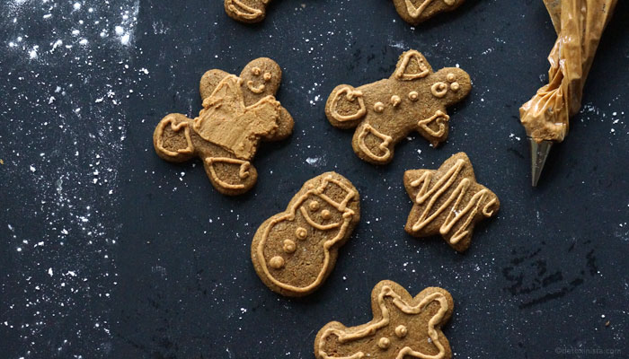 gingerbread cookies decorated with icing