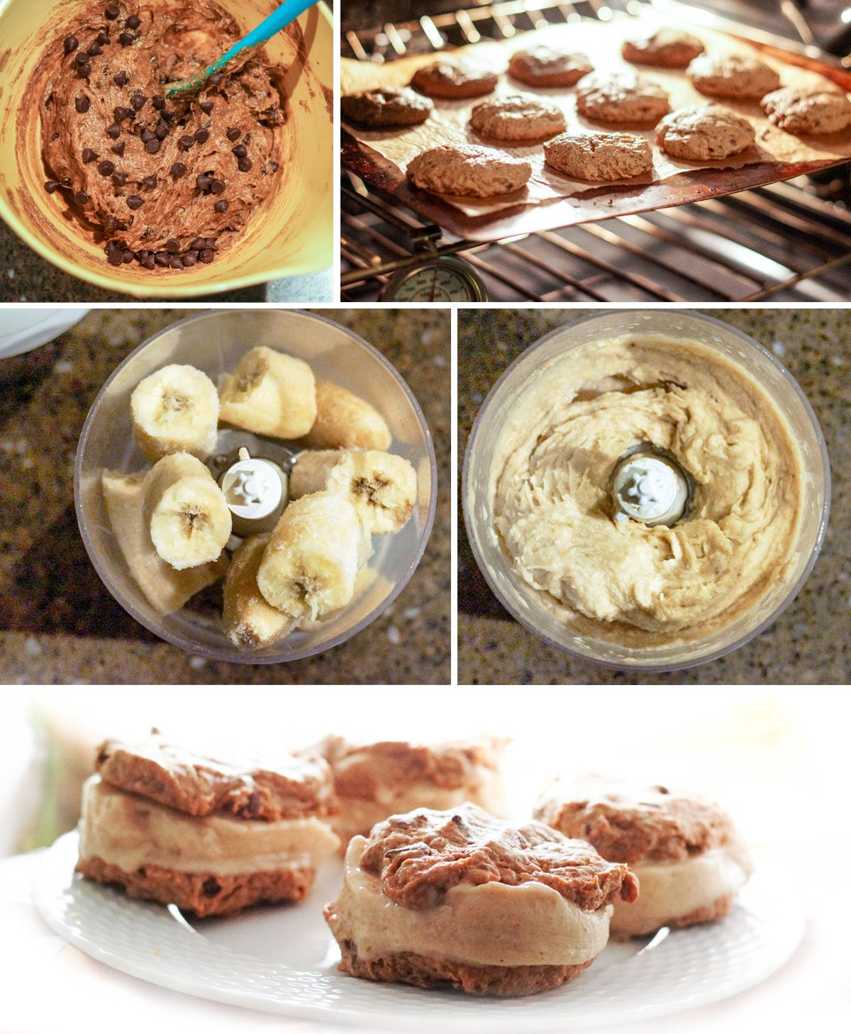 assembling ice cream sandwich cookies