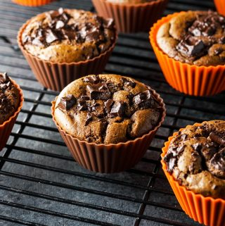 Paleo Double Chocolate Pumpkin Muffins