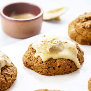 Gluten-Free Vegan Pumpkin Scones with Creamy Maple Glaze