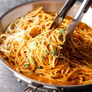 Vegan Tuscan Pumpkin Pasta Sauce