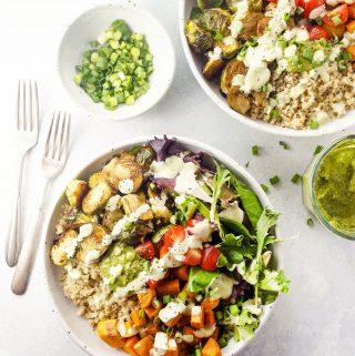 Make-Ahead Detox Roasted Vegetable Quinoa Bowls