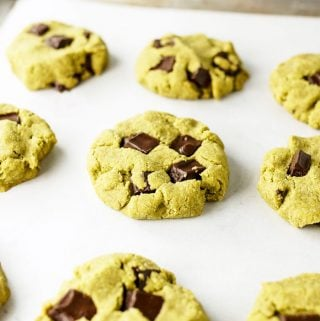 Matcha Mint Chocolate Chip Cookies (Vegan & Paleo)