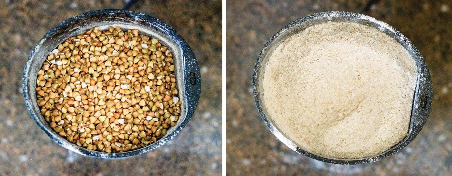 freshly ground buckwheat groats