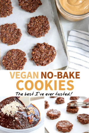 vegan no bake cookies pin