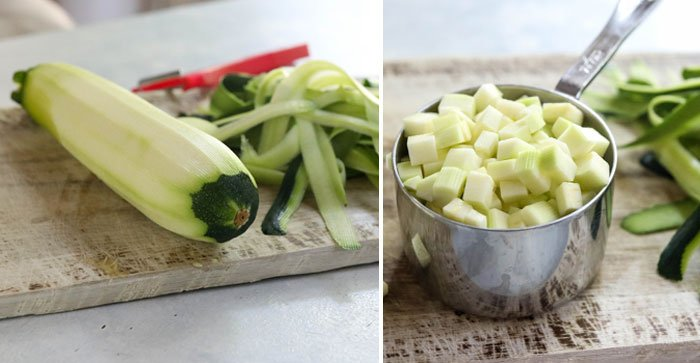 peeled and chopped zucchini