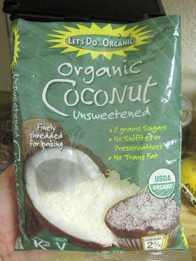 shredded coconut