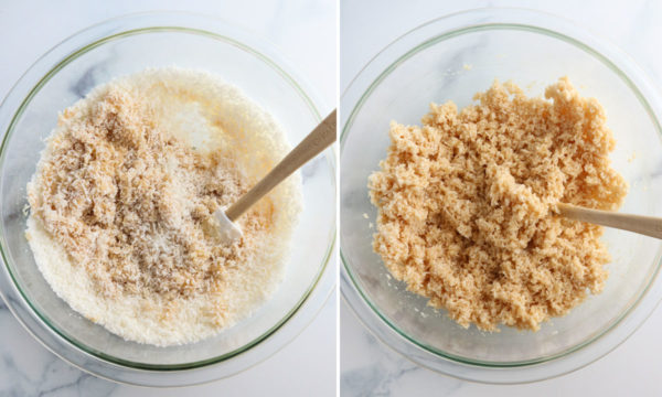 shredded coconut added and mixed together