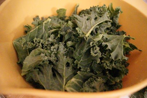 washed kale