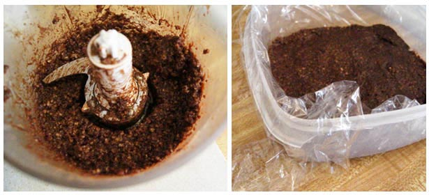 crust ingredients in food processor and pressed into pan