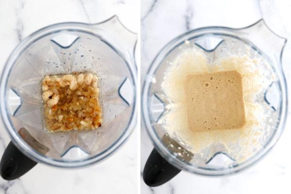 cashew alfredo sauce in blender
