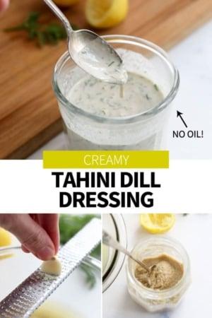 tahini dill dressing pin for pinterest