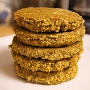 millet burgers stacked