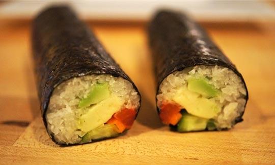 "spicy ""tuna"" rolls."