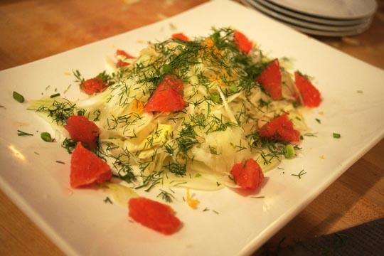 Shaved fennel salad, with raw sheep pecorino