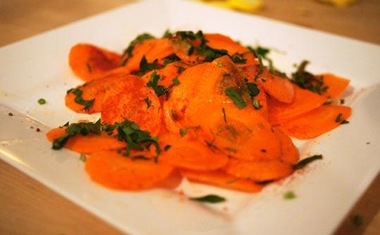 "Carrot ""BBQ"" chips"