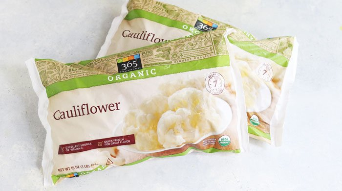 frozen cauliflower bags