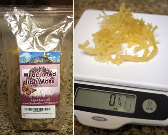 package of wildcrafted moss