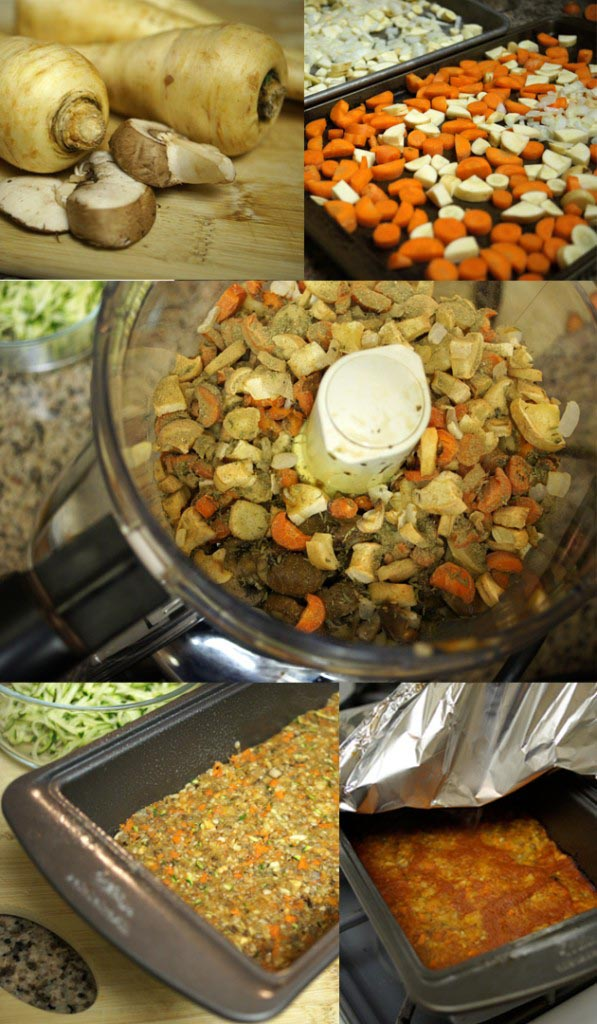 making mushroom and sage loaf