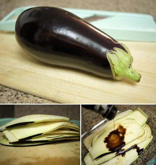 eggplant and eggplant slices on a cutting board