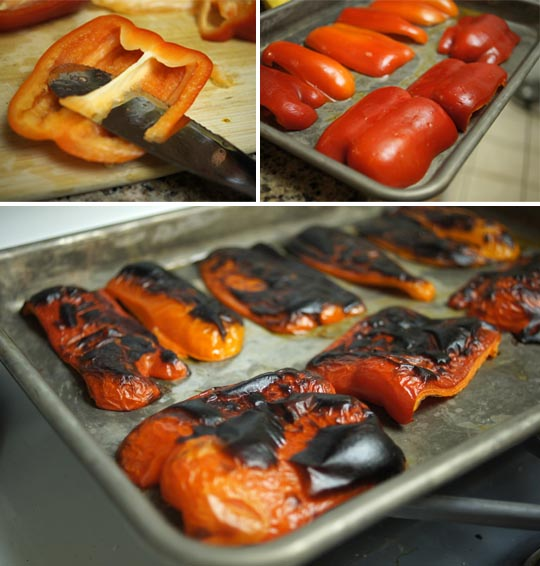 roasting red bell peppers