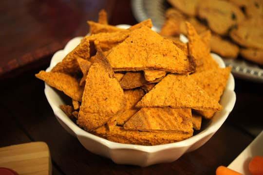 bowl of Vegan Nacho Cheez Its