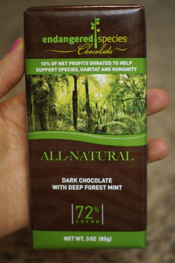 bar of dark chocolate