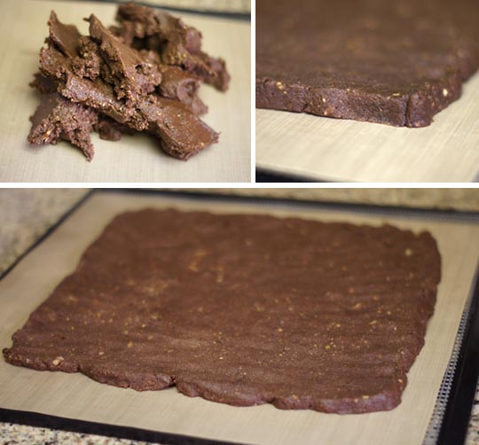 brownie batter on a pan