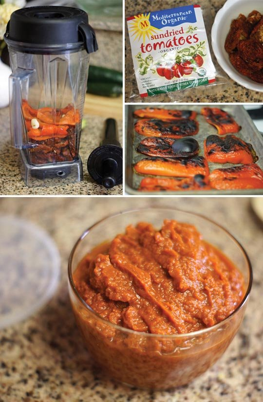 sun dried tomato sauce blended and put in a glass bowl