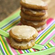 Almond flour frosted sugar cookies